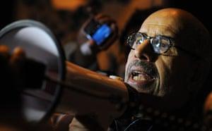 Egypt uprising: Mohamed ElBaradei speaks to the protesters
