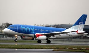 A BMI flight takes off from Heathrow