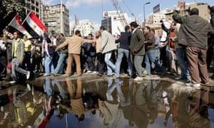 Egyptian demonstrators