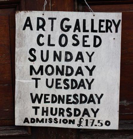 Art gallery closed