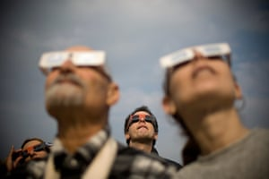 eclipse: Israelis watch at a partial solar eclips
