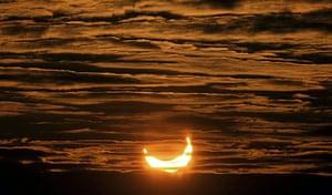 eclipse: Partial solar eclipse Locon, France:
