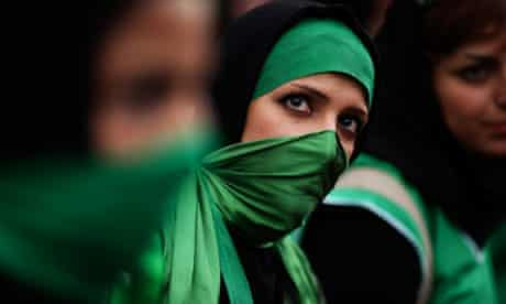 A supporter of the Green movement in Iran