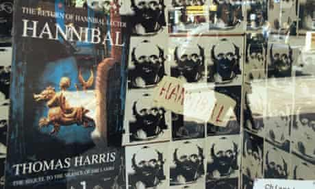 Hannibal by Thomas Harris, advertised in a window