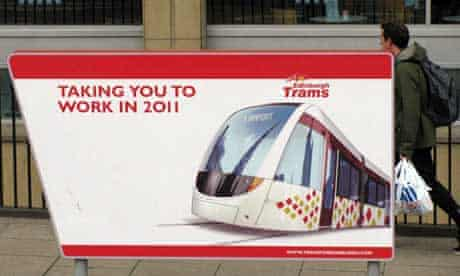 The 2011 Edinburgh Trams signs were removed last year   pic: guardian.co.uk