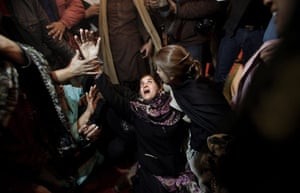 Salman Taseer Funeral: A Pakistani mourner grieves during the funeral procession of Salman Taseer