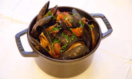 Mussels with chorizo