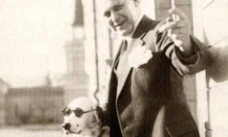 Tor Borg and his dog Jackie, aka Hitler
