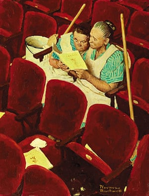 Norman Rockwell: Charwomen in Theater