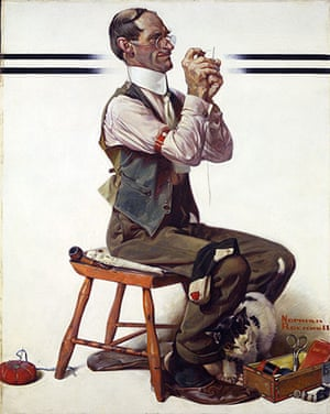 Norman Rockwell: Threading the Needle