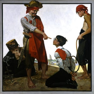 Norman Rockwell: Cousin Reginald Plays Pirates