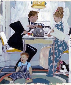 Norman Rockwell: Breakfast Table Political Argument