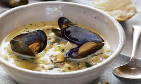 Mussel and smoked pollack chowder
