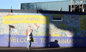 Torquay v Carlisle: A general view of the exterior surrounding Plainmoor