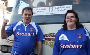 Torquay v Carlisle: Two Carlisle United fans ready to cheer on their team
