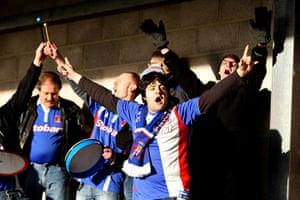 Torquay v Carlisle: Carlisle United fans cheer on their team