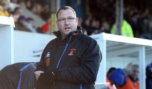 Torquay v Carlisle: Carlisle United manager Greg Abbott gets ready before kick-off