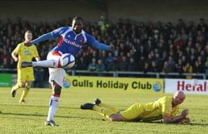 Torquay v Carlisle: Carlisle striker Francois Zoko goes close to giving his side the lead