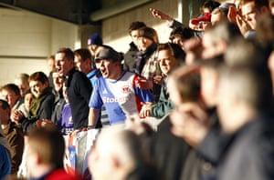 Torquay v Carlisle: Carlisle United fans cheers their team on