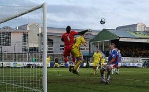 Torquay v Carlisle: Carlisle United goalkeeper Adam Collins clears the ball