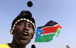 Sudan referendum: A Southern Sudanese man at a polling station in Juba