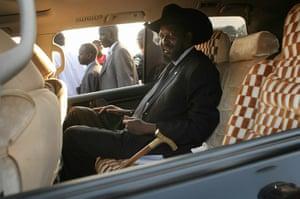 Sudan referendum: Salva Kiir Mayardit, acting President of the Government of Southern Sudan