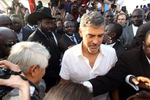 Sudan referendum: George Clooney with President Salva Kiir Mayardit