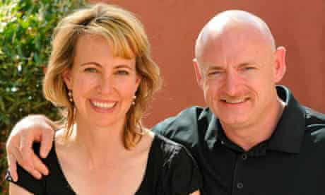 Gabrielle Giffords with her husband, astronaut Mark Kelly