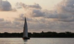 Manda island in Kenya