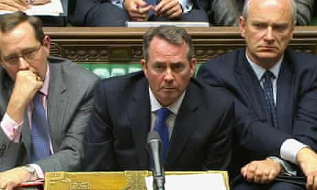 Liam Fox speaks to parliament on 10 October 2011