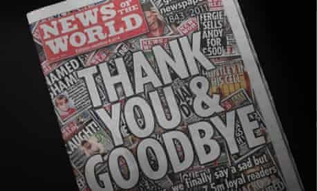 The final ever edition of the News Of The World.
