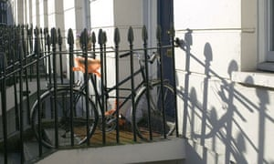 Bike Blog - locked bicycle
