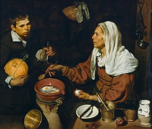 The Art Museum / Phaidon : Old Woman Cooking Eggs by Diego Velazquez