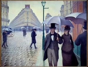 The Art Museum / Phaidon : Une rue de Paris par temps de pluie en, 1877, by Gustave Caillebotte