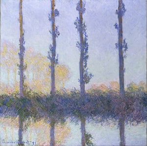 The Art Museum / Phaidon :  The Four Trees, 1891, by Claude Monet