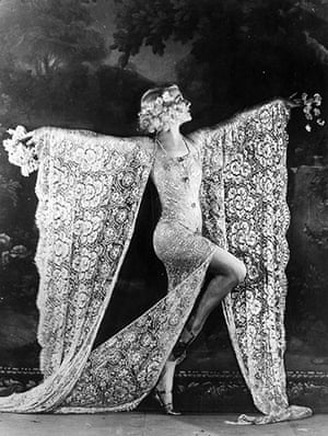 The history of lace: Dancer Edmonde Guydens at the Moulin Rouge nightclub in Paris, 1926
