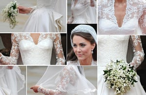 The history of lace: Images showing Kate, Duchess of Cambridge's wedding dress, 2011