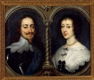 The history of lace: Charles I and Henrietta Maria of England by Anthonie van Dyce, 1624-1649