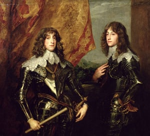 The history of lace: Prince Charles Louis Elector Palatine and his brother, 1637