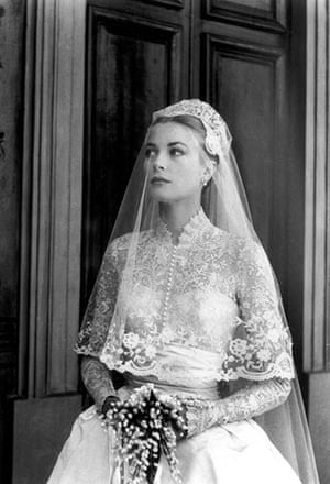 The history of lace: Grace Kelly the day of her wedding to Prince Rainier III of Monaco, 1956