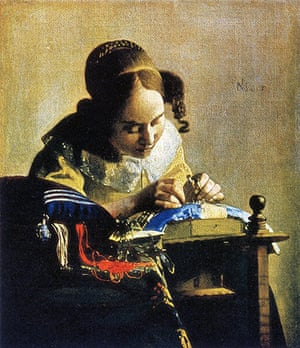 The history of lace: The Lacemaker by Johannes Vermeer, 1669-1670