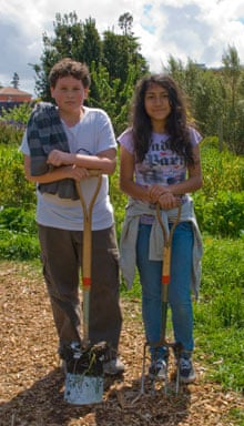 Students in the 'edible schoolyard'