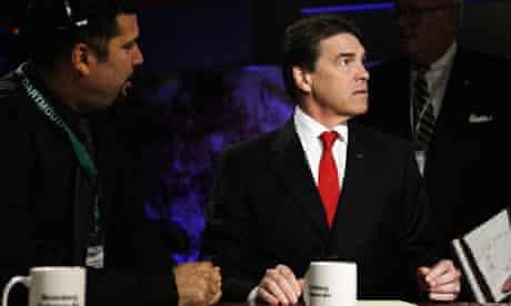 Rick Perry prepares for GOP debate