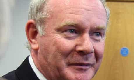 The Sinn Féin candidate for the Irish presidency, Martin McGuinness