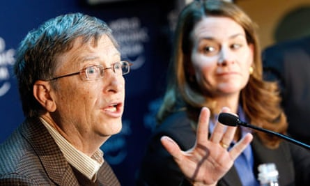 Bill Gates speaks during a press conference at the 40th annual meeting of the World Economic Forum.