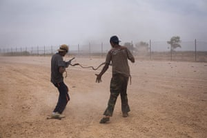 From the agencies: Manu Brabo: Libyan revolutionary fighters fire a machine gun
