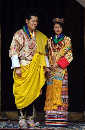 Bhutanese royal wedding: King Jigme Khesar Namgyel Wangchuck and newly crowned queen of Bhutan