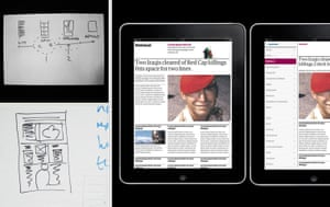 The Guardian iPad initial designs