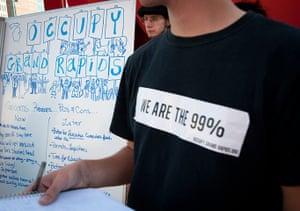 Occupy protest movement: Occupy Grand Rapids protest