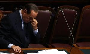 Berlusconi in parliament